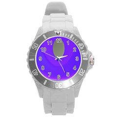 Ceiling Color Magenta Blue Lights Gray Green Purple Oculus Main Moon Light Night Wave Round Plastic Sport Watch (l)