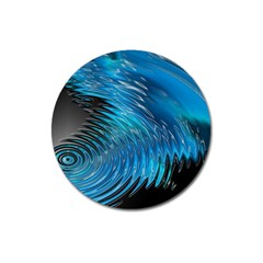 Waves Wave Water Blue Hole Black Magnet 3  (round) by Alisyart