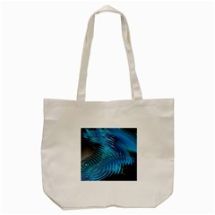 Waves Wave Water Blue Hole Black Tote Bag (cream)