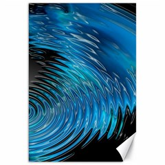 Waves Wave Water Blue Hole Black Canvas 20  X 30   by Alisyart