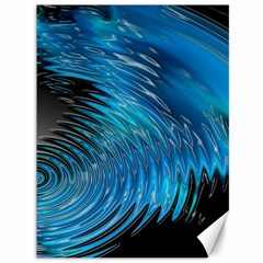 Waves Wave Water Blue Hole Black Canvas 36  X 48   by Alisyart