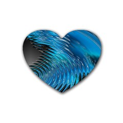 Waves Wave Water Blue Hole Black Heart Coaster (4 Pack)