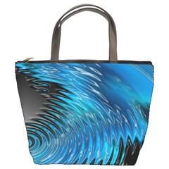 Waves Wave Water Blue Hole Black Bucket Bags