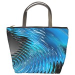 Waves Wave Water Blue Hole Black Bucket Bags Front