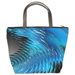 Waves Wave Water Blue Hole Black Bucket Bags Back