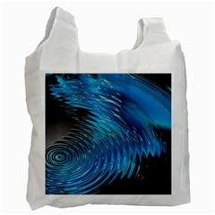 Waves Wave Water Blue Hole Black Recycle Bag (one Side) by Alisyart