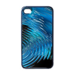 Waves Wave Water Blue Hole Black Apple Iphone 4 Case (black) by Alisyart