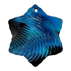 Waves Wave Water Blue Hole Black Snowflake Ornament (two Sides) by Alisyart