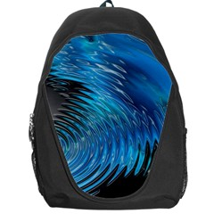 Waves Wave Water Blue Hole Black Backpack Bag by Alisyart