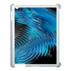 Waves Wave Water Blue Hole Black Apple Ipad 3/4 Case (white)