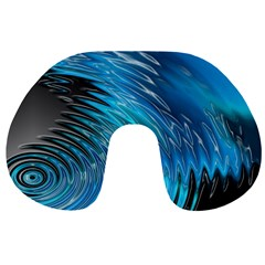 Waves Wave Water Blue Hole Black Travel Neck Pillows by Alisyart