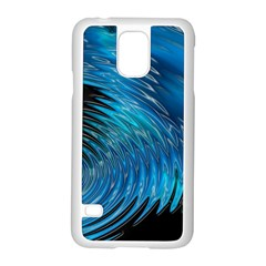 Waves Wave Water Blue Hole Black Samsung Galaxy S5 Case (white)