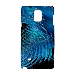Waves Wave Water Blue Hole Black Samsung Galaxy Note 4 Hardshell Case