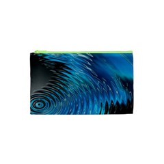 Waves Wave Water Blue Hole Black Cosmetic Bag (xs)