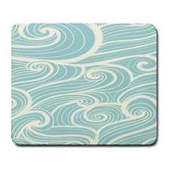 Blue Waves Large Mousepads by Alisyart