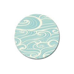 Blue Waves Magnet 3  (round) by Alisyart