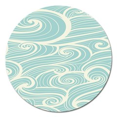 Blue Waves Magnet 5  (round) by Alisyart