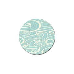 Blue Waves Golf Ball Marker by Alisyart