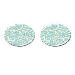 Blue Waves Cufflinks (oval)