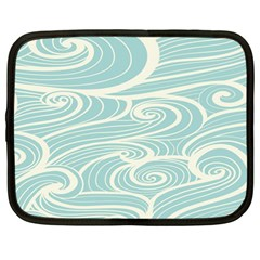Blue Waves Netbook Case (large) by Alisyart