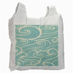Blue Waves Recycle Bag (two Side)  by Alisyart