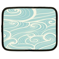 Blue Waves Netbook Case (xxl)  by Alisyart
