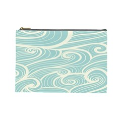 Blue Waves Cosmetic Bag (large)  by Alisyart