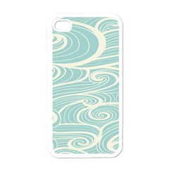 Blue Waves Apple Iphone 4 Case (white) by Alisyart