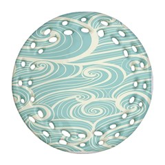 Blue Waves Ornament (round Filigree)