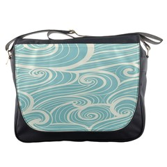 Blue Waves Messenger Bags by Alisyart