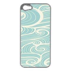 Blue Waves Apple Iphone 5 Case (silver)