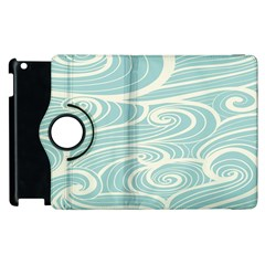 Blue Waves Apple Ipad 2 Flip 360 Case by Alisyart