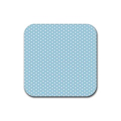 Circle Blue White Rubber Square Coaster (4 Pack)  by Alisyart