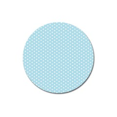 Circle Blue White Magnet 3  (round) by Alisyart