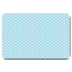 Circle Blue White Large Doormat  by Alisyart