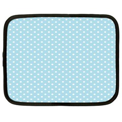 Circle Blue White Netbook Case (large) by Alisyart
