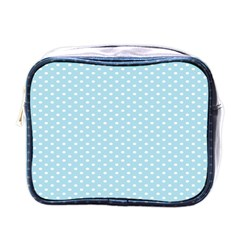 Circle Blue White Mini Toiletries Bags by Alisyart