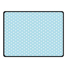 Circle Blue White Fleece Blanket (small) by Alisyart