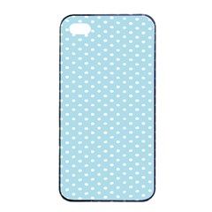 Circle Blue White Apple Iphone 4/4s Seamless Case (black) by Alisyart
