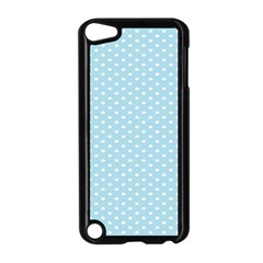 Circle Blue White Apple Ipod Touch 5 Case (black)