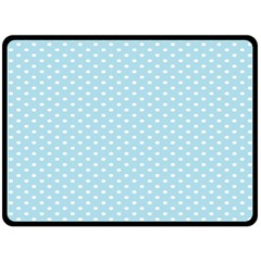 Circle Blue White Double Sided Fleece Blanket (large)