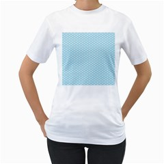 Circle Blue White Women s T Shirt (white)