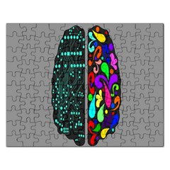 Emotional Rational Brain Rectangular Jigsaw Puzzl by Alisyart