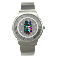 Emotional Rational Brain Stainless Steel Watch by Alisyart