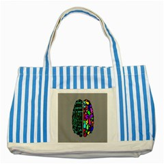 Emotional Rational Brain Striped Blue Tote Bag