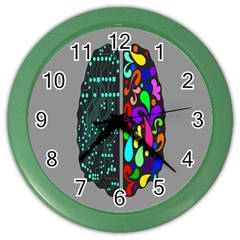Emotional Rational Brain Color Wall Clocks