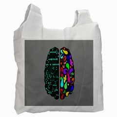 Emotional Rational Brain Recycle Bag (one Side) by Alisyart