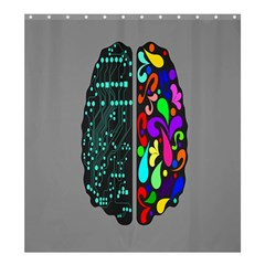Emotional Rational Brain Shower Curtain 66  X 72  (large)  by Alisyart