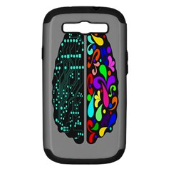 Emotional Rational Brain Samsung Galaxy S Iii Hardshell Case (pc+silicone) by Alisyart