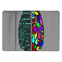Emotional Rational Brain Samsung Galaxy Tab 10 1  P7500 Flip Case
